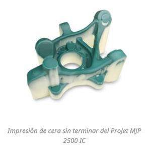 Impresión 3D de cera